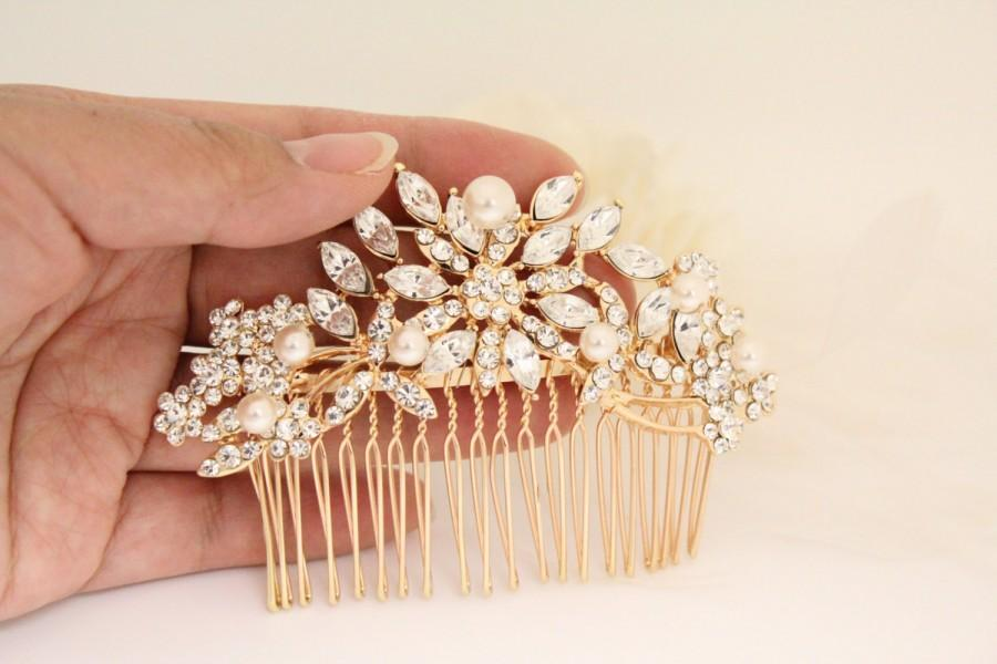 Rose Gold Bridal Headpiece Wedding Hair Comb Wedding Hair Accessory