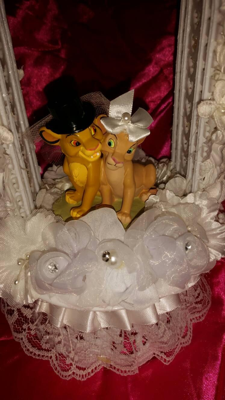 Nozze - LION KING wedding cake topper Young Simba Nala