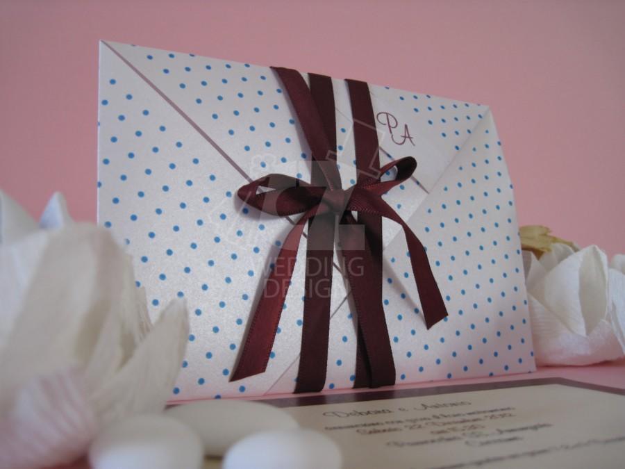 Mariage - 100 Partecipazioni matrimonio Ginevra in carta perlata realizzata a mano e completamente personalizzabile, anche con un disegno su richiesta