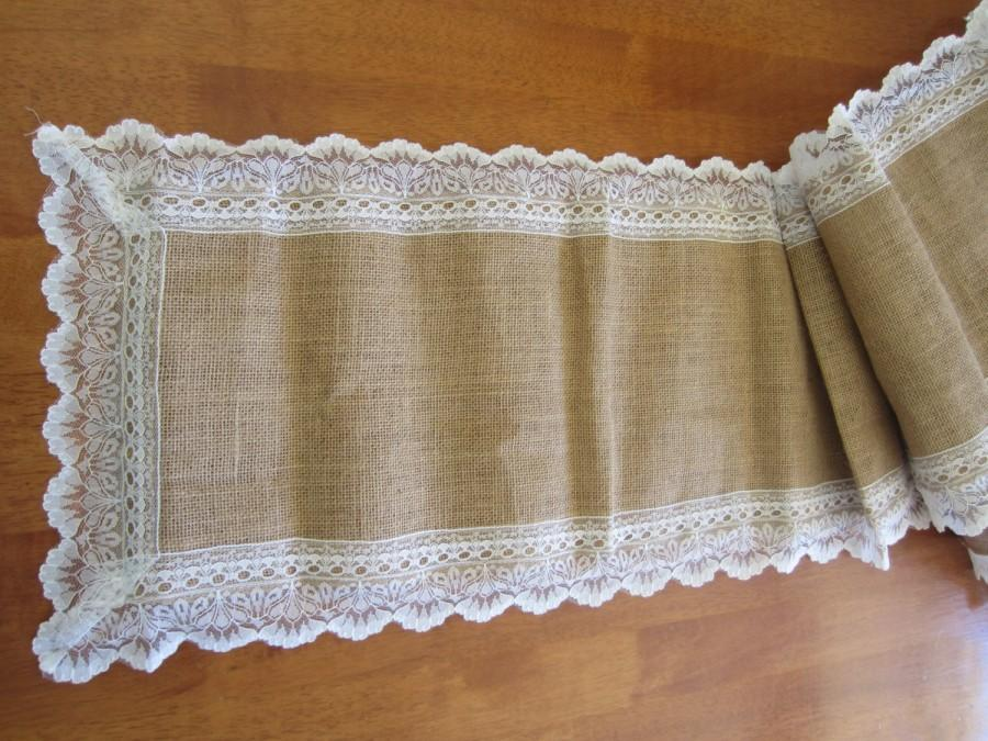 Burlap hessian lace trimmed wedding table runners decorations free burlap hessian lace trimmed wedding table runners decorations free shipping australia wide junglespirit Image collections