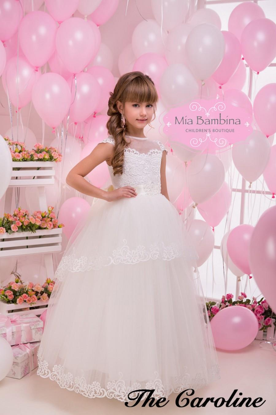 Ivory Lace Flower Girl Dress First Communion Dress #2461661 - Weddbook