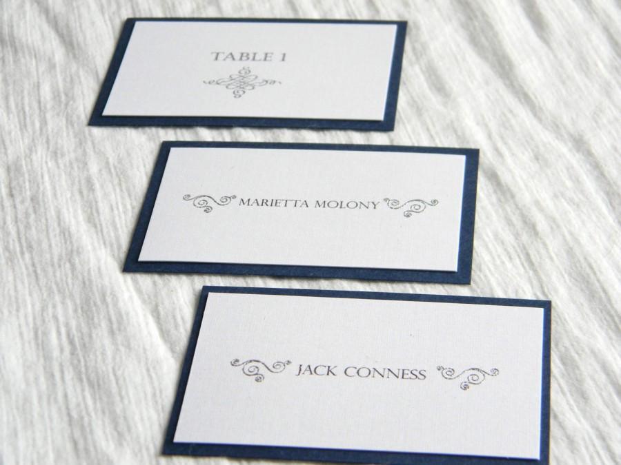 Mariage - Modern Elegant Wedding Name Cards