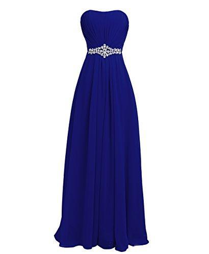 Düğün - Strapless Dress With Rhinestone Decoration