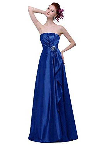 Свадьба - A Line Strapless Bridesmaid Gown