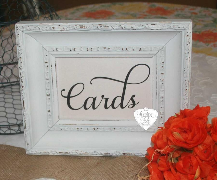 Mariage - Cards, Sign, Choice of Size, Rustic Wedding Signs, Cards Wedding Reception Signage