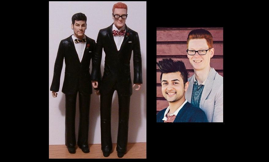 Mariage - Same Sex Couple Wedding Cake Topper - Completely Personalized By You