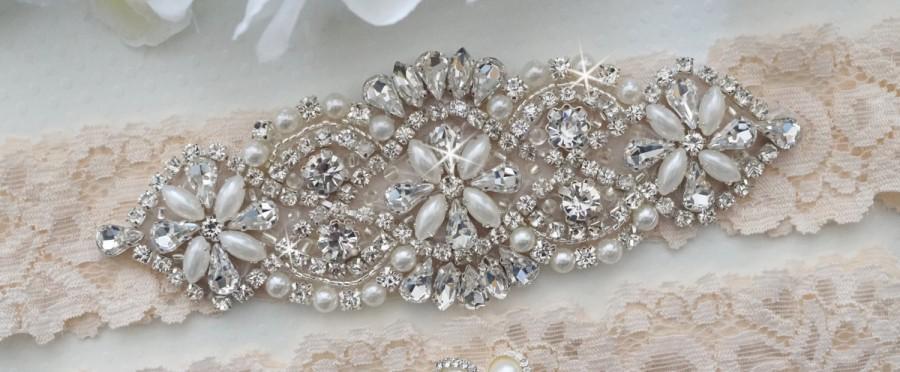 Mariage - Wedding Garter, Bridal Garter, Vintage Lace Garter - Style L200