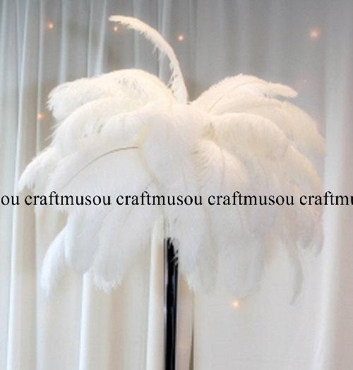 Mariage - 10 Piece 10-24 inches White ostrich feather for Wedding Centerpiece decoration