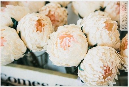 Mariage - Wedding flowers,wedding bouquet,wedding peonies,paper flower bouquet,ivory peonies 3pcs,paper flowers,bridal flower,peonies bouquet,