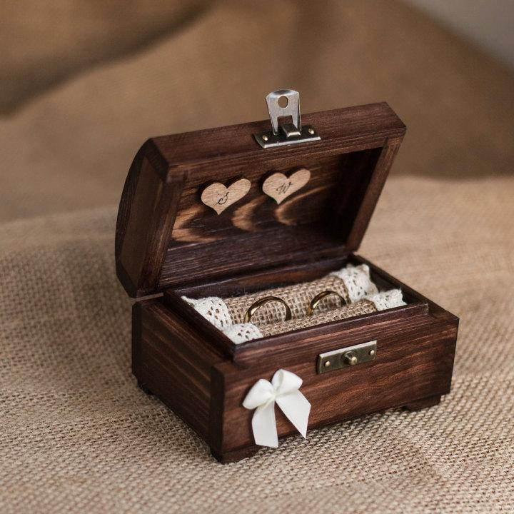 personalized wedding ring box rustic wooden ring box rustic ring holder ring bearer 2461949. Black Bedroom Furniture Sets. Home Design Ideas