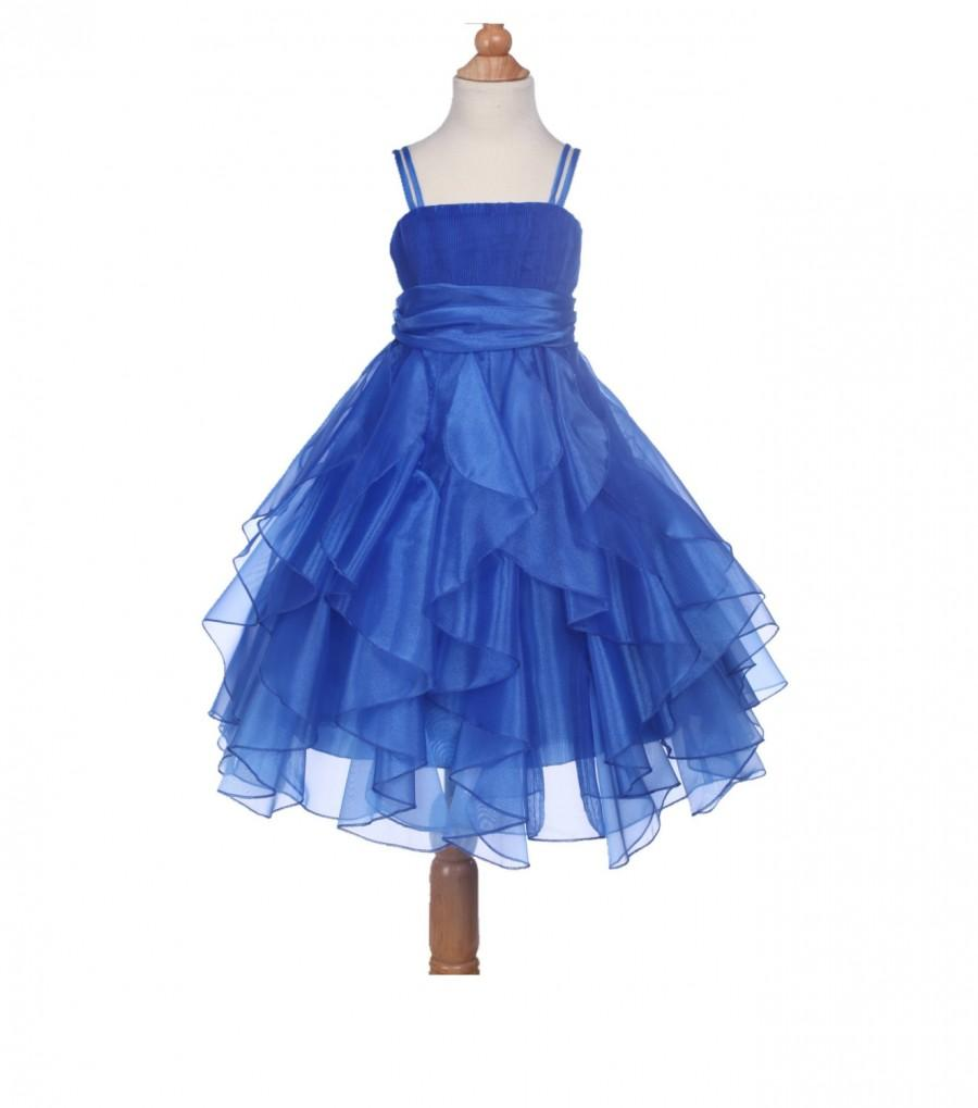 Blue dress girl size 12