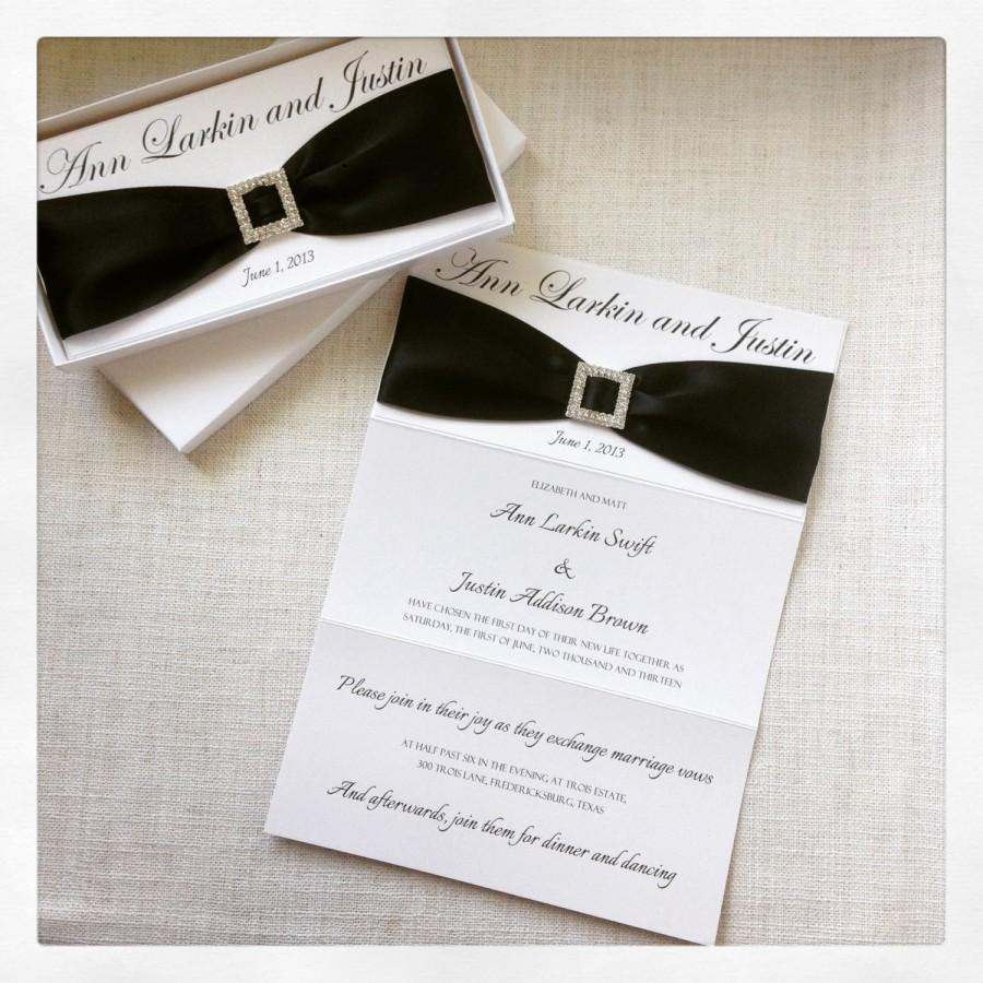 Mariage - Black and White Elegant Wedding Invitation