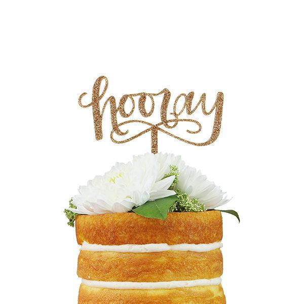 Wedding - Hooray Cake Topper