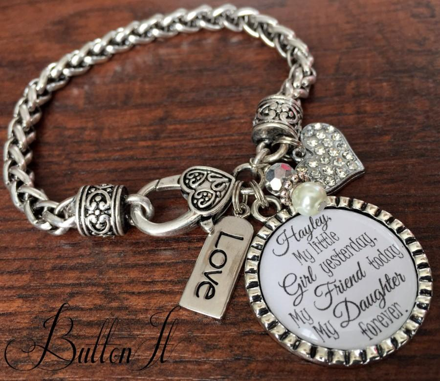personalized wedding, mother daughter jewelry, wedding gift for BRIDE ...