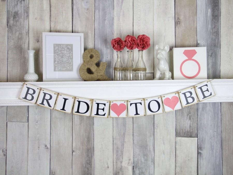 Mariage - Bride To Be Banner - Bridal Shower Decorations - Bachelorette Party - Hens Party - Rustic