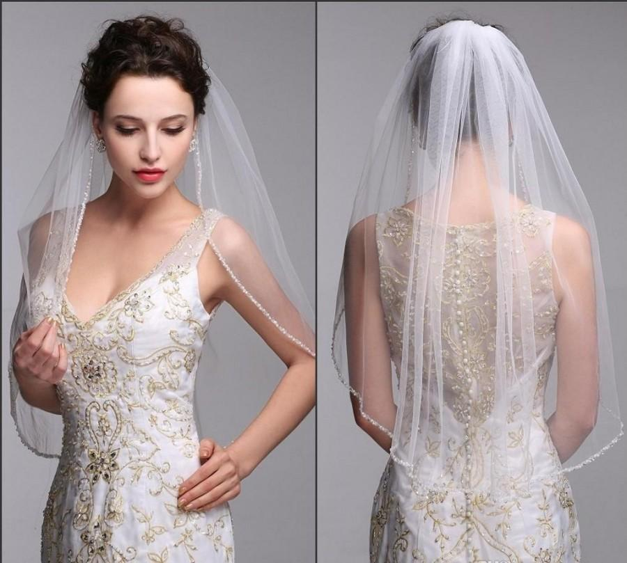 Mariage - Beautiful Tulle Veil with beading