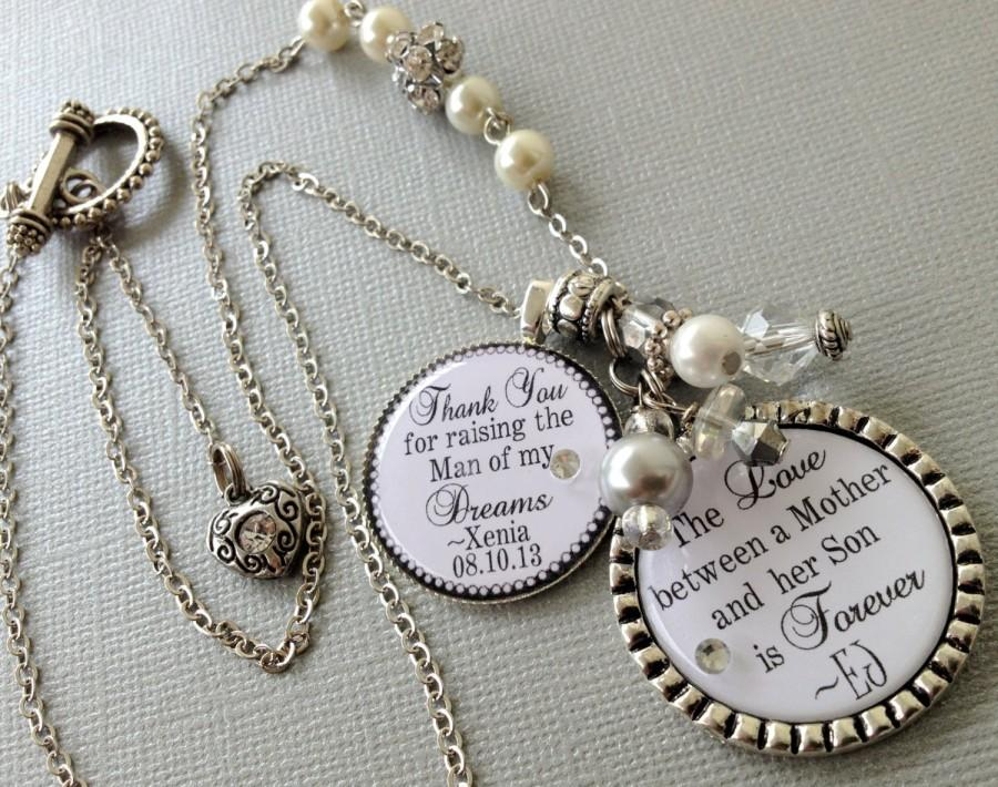 Mother Of The Groom Gift Personalized Necklace Thank You