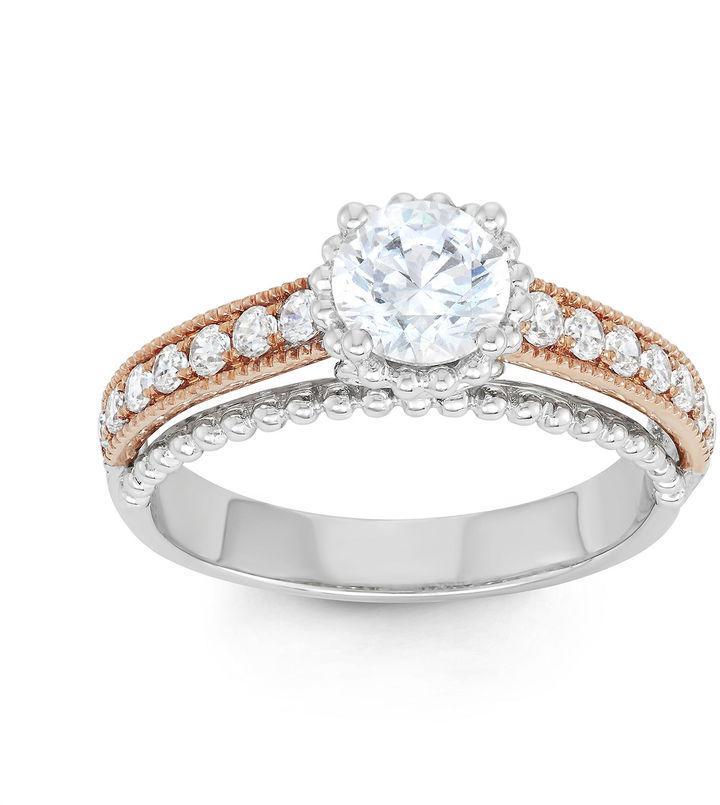 MODERN BRIDE 1 CT. T.W. Certified Diamond 14K Two-Tone