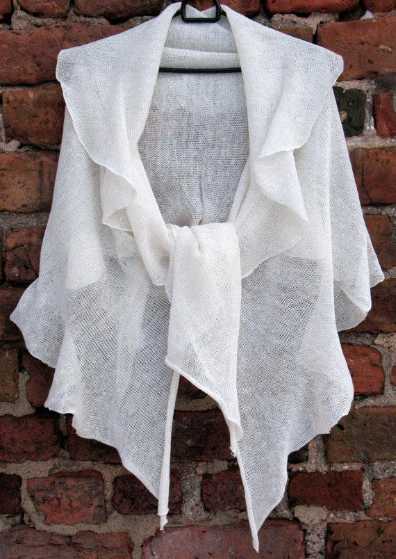 Mariage - Linen Scarf White Organic Linen Women's Scarf Pure Linen Spring Clothing