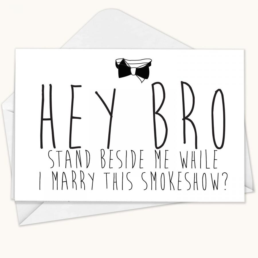 Will You Be My Groomsmen Card Funny Groomsman Best Man Wedding Bridesmaid Blank