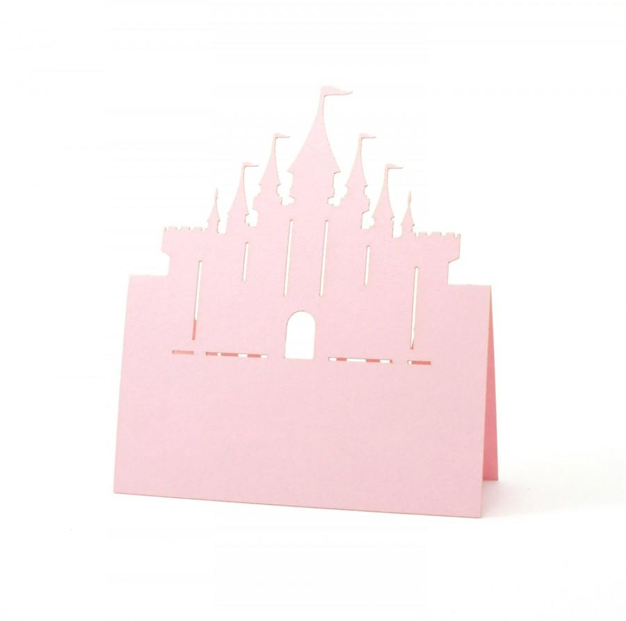 Mariage - Castle Place Cards set of 10 - Escort Cards,Wedding Place Cards,Seating Card,Baby Shower,Rustic Wedding,Princess,Disney,Fairy Tale,Bridal