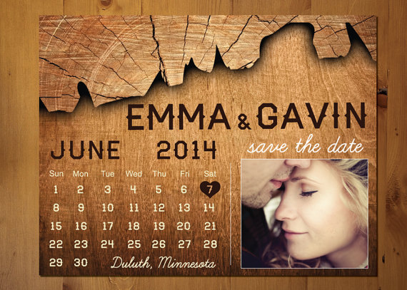 Mariage - Save The Date Magnet, Card or Postcard
