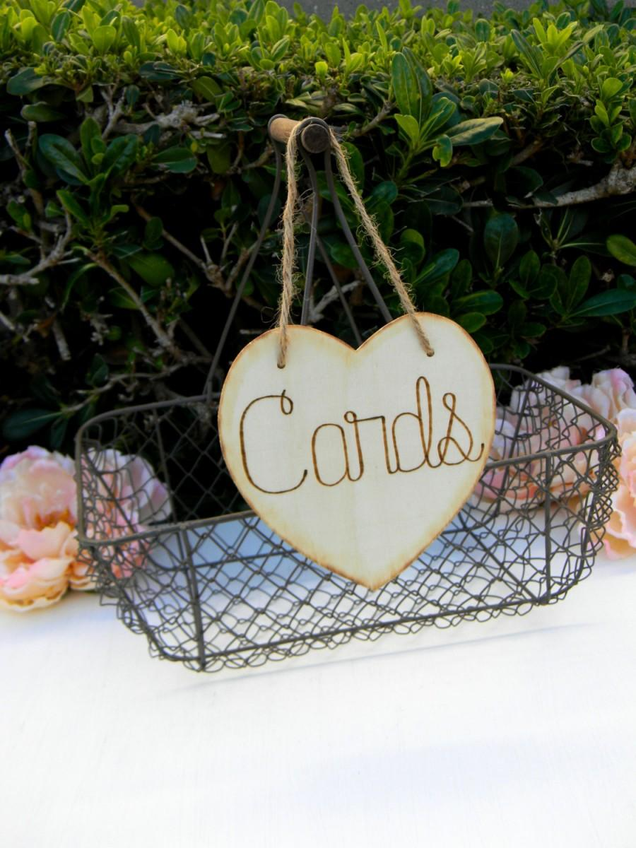 Mariage - Cards Sign Wooden Heart Wood Burned Engraved Rustic Sign Honeymoon Fund Sparklers Bubbles Custom