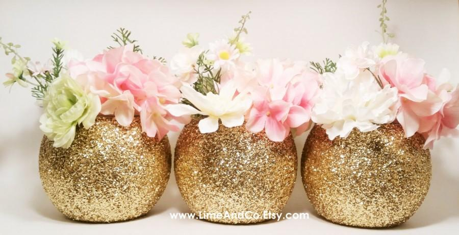Gold Wedding Decor Wedding Centerpiece Baby Shower Centerpiece