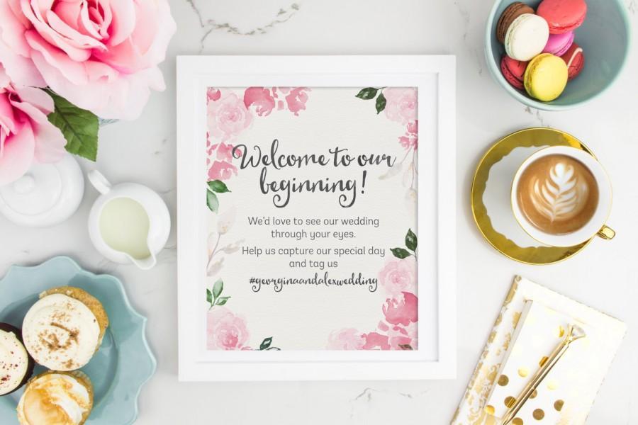 Свадьба - Hashtag Wedding Sign