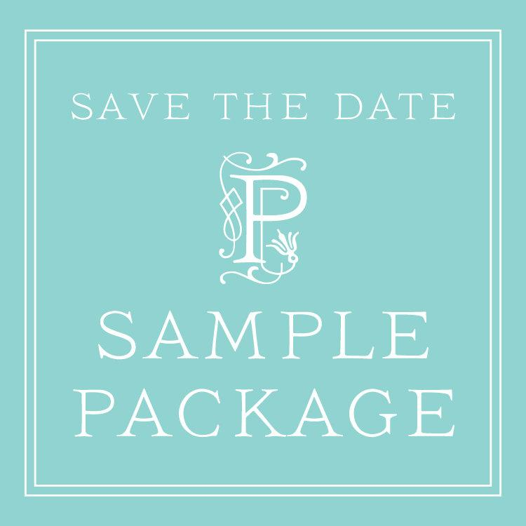 Wedding Save The Date SAMPLE PACKAGE Classic Save The Date Cards – Wedding Save the Date and Invitation Packages