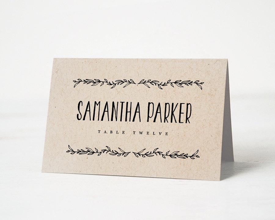 Printable place card template wedding place cards for Wedding place name cards