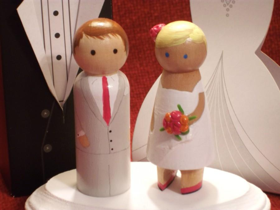 Mariage - Show off  Your Shoes-Short Dress Bride or Bridesmaid - Wedding Cake Topper