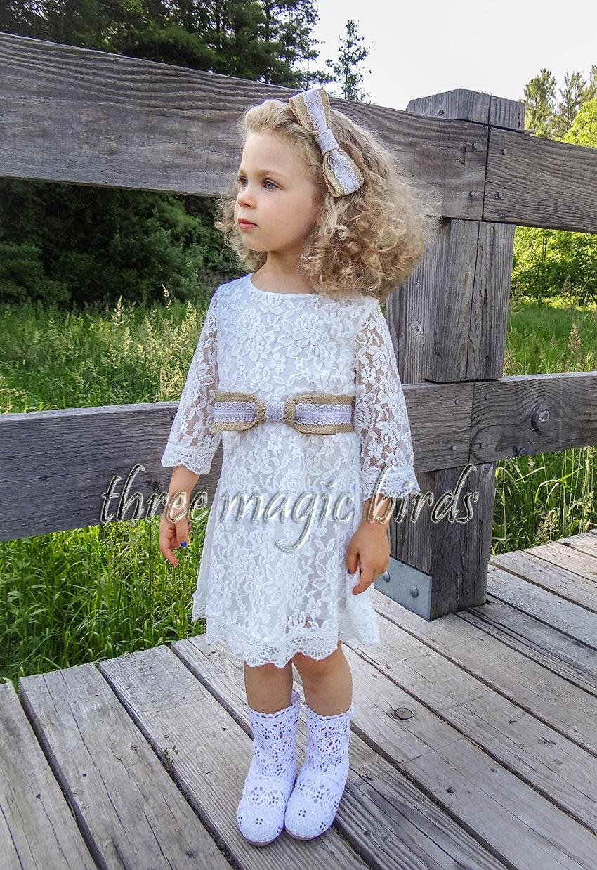 Sale flower girl dress set burlap headband sash rustic burlap sale flower girl dress set burlap headband sash rustic burlap girl dress bridesmaid country infant flowergirl burlap bows boho wedding ombrellifo Choice Image