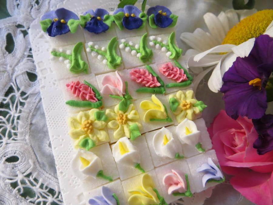 Hochzeit - Garden Bouquet Sugar Cubes