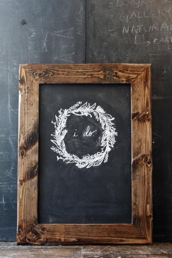 Hochzeit - Rustic Dark Brown Distressed Chalkboard