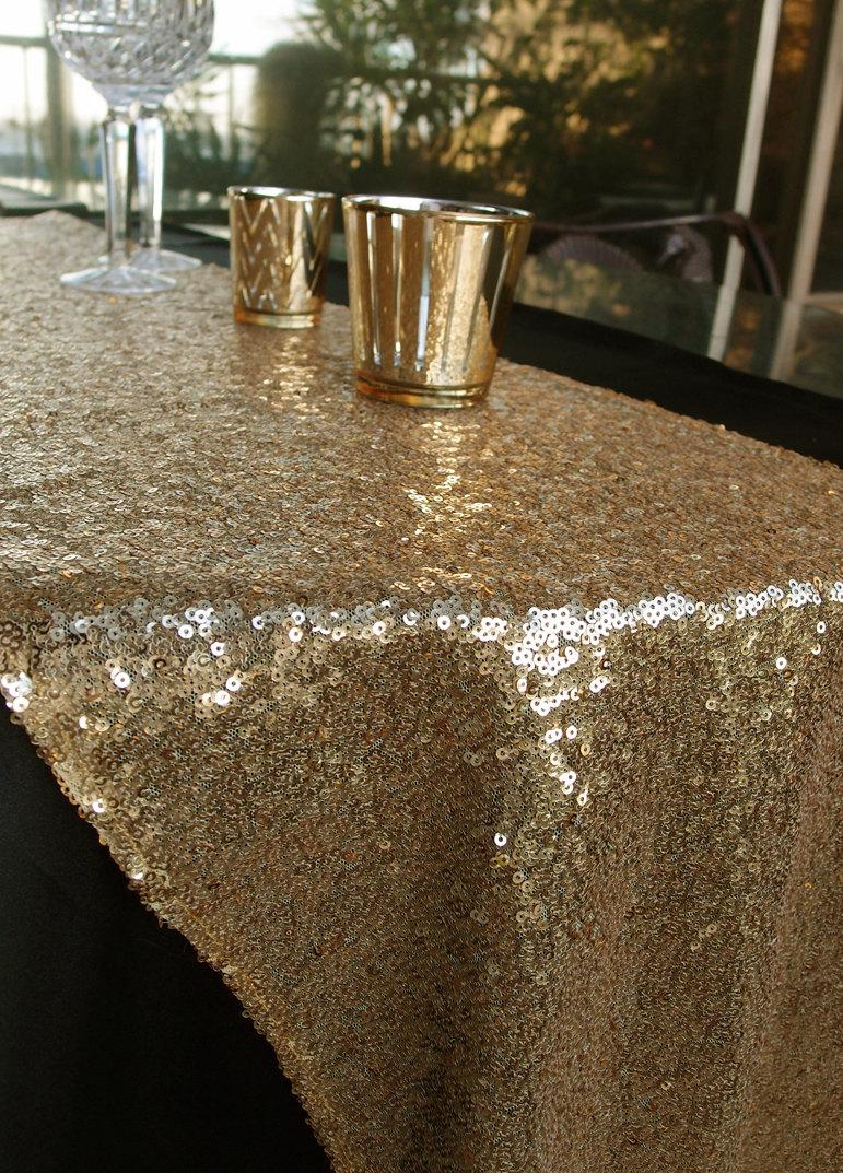 Mariage - Sequins Table Runner in Solid Gold or Solid Silver