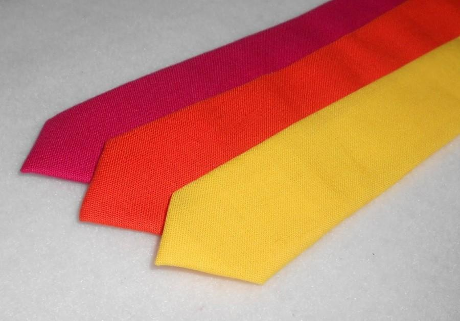 Hochzeit - Pink, Orange, or Yellow Skinny Tie - Men's, Teen, Tween, Youth             EASTER is March 27th!!     2 weeks before shipping