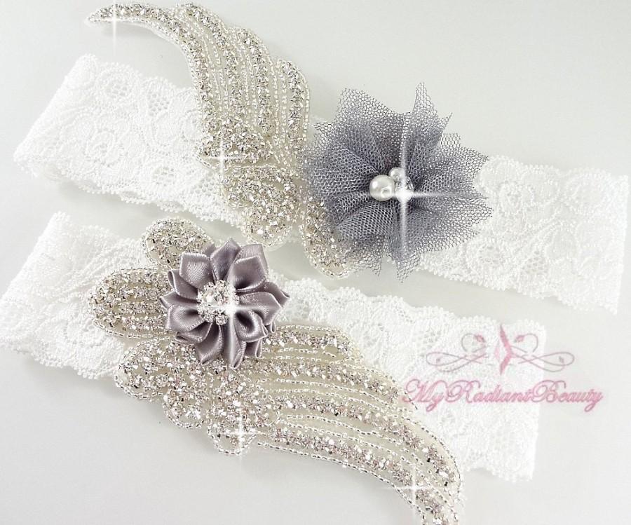 Свадьба - Wedding Garter, Garter, Bridal Garter, Sexy Lace Garter, Crystal Garter, Flower Garter, Handmade Custom Garter, Beaded Garter Set GTF0009G