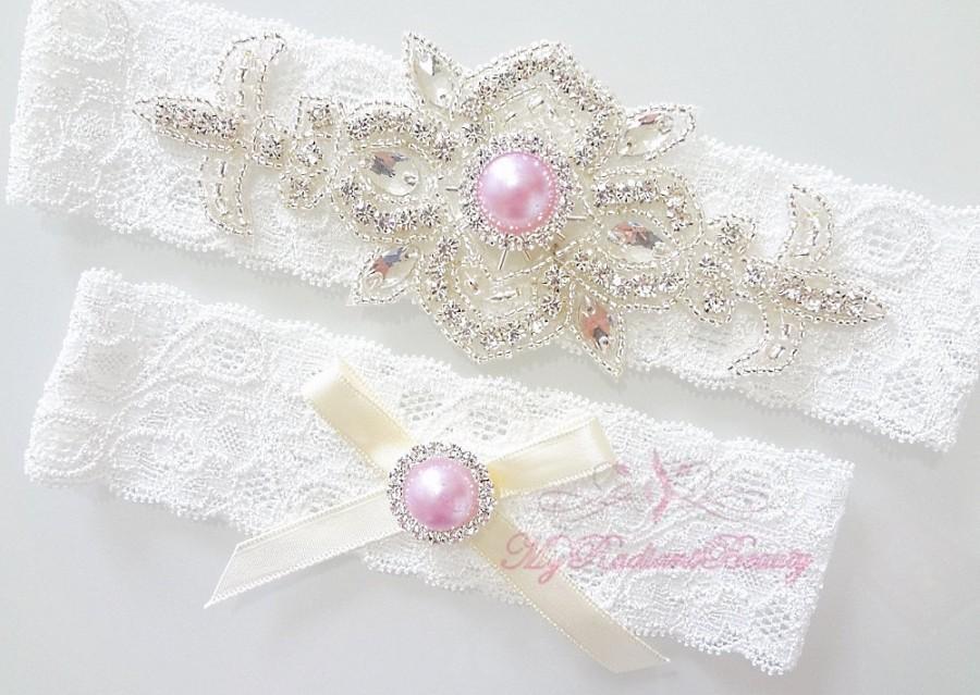 Свадьба - Wedding Garter, Bridal Sexy Garter, Crystal Applique Garter, Tulip Purple Pearl Garter, Handmade Garter, MRB Design Garter GTA0040TP