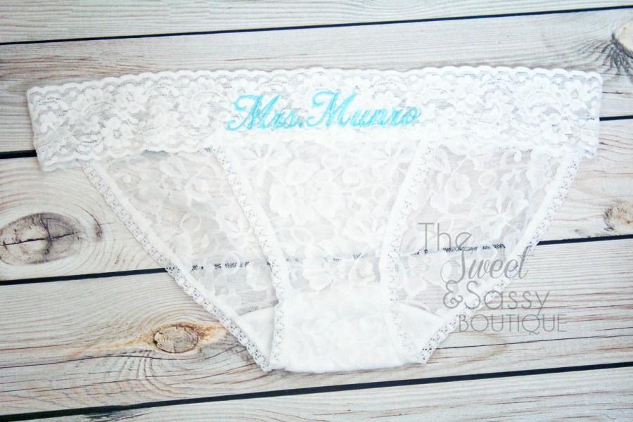 Свадьба - Monogrammed Wedding Panties