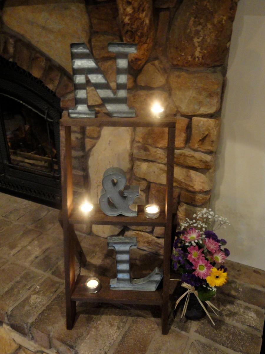 Rustic Ladder Shelf Hompe Decor And Weddings Centerpieces Barn Wedding