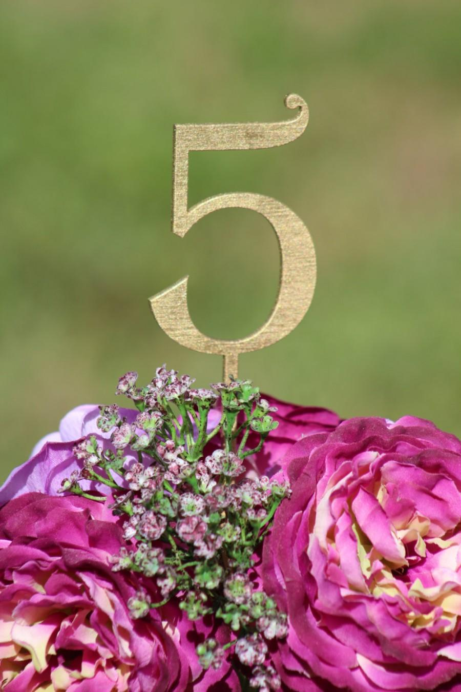 Mariage - GOLD TABLE NUMBERS