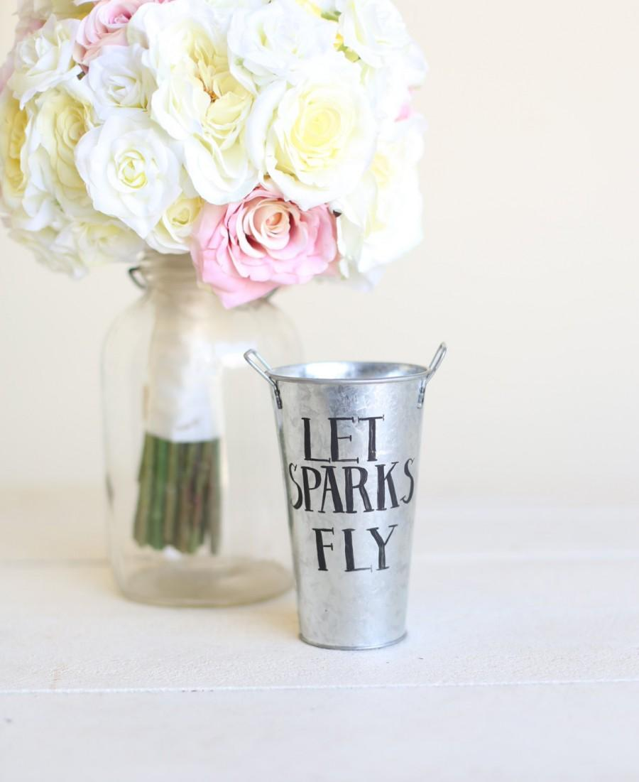 Mariage - Wedding Sparklers Holder Tin Pail  (Item Number MMHDSR10045)