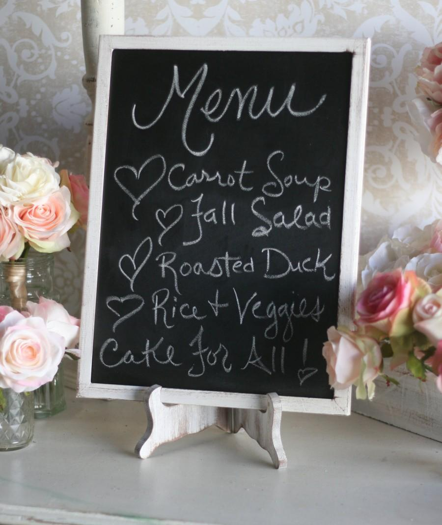 Mariage - Rustic Wedding Chalkboard and Easel Set Shabby Chic Decor Barn Wedding LARGE 12x16 (Item Number MHD20057)