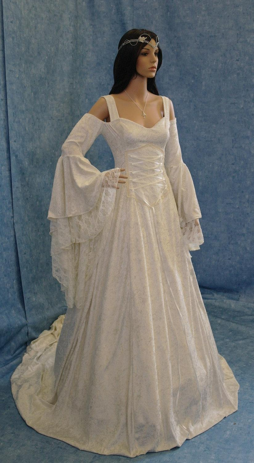 Renaissance Wedding Dress.Ivory Wedding Dress Beach Wedding Dress Renaissance Dress
