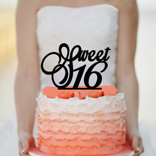 Mariage - Sweet 16 Cake Topper -  Acrylic Cake Topper