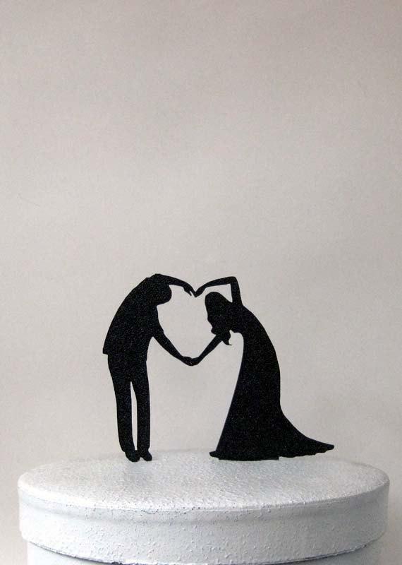 Свадьба - Wedding Cake Topper - Heart Cake Topper