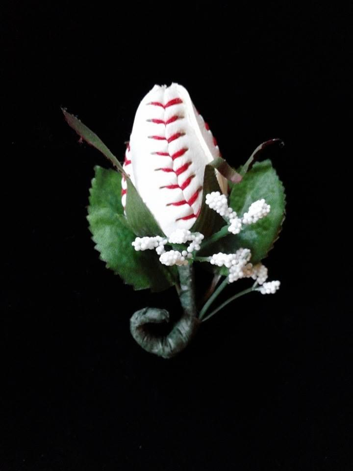 Wedding - Baseball  Sport Bud Rose Boutonnieres
