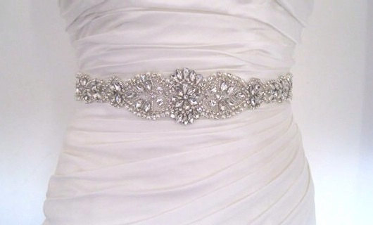 Mariage - Pearl wedding belt sash crystal pearl bridal sash belt