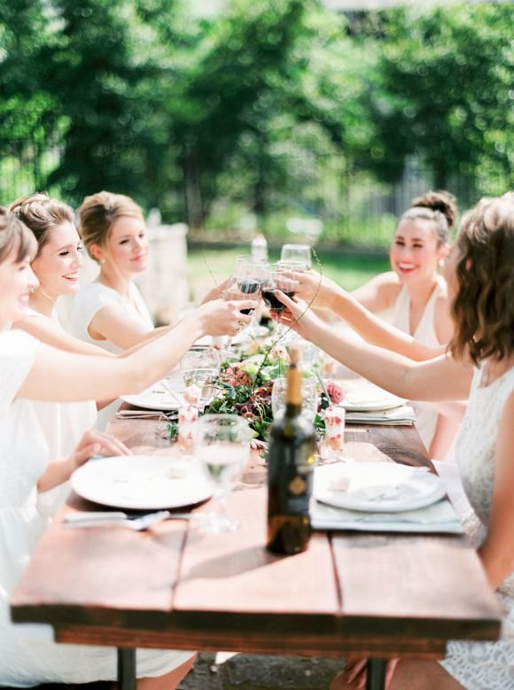 Wedding - Elegant Backyard Bridal Brunch Ideas